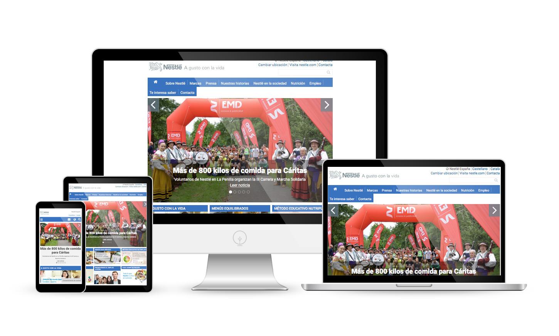 Website Nestlé.es